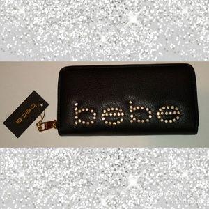 NWT Black Leather bebe Wallet